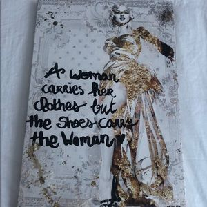 The Shoe Carries the Woman Canvas Painting